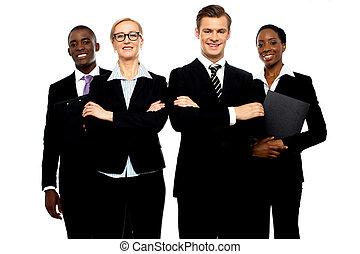séduisant, groupe, jeune, professionnels