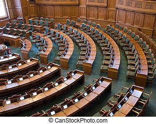 sénat, intérieur, parlement, salle