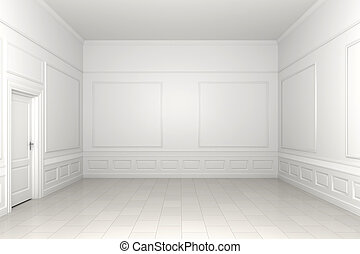 salle vide, blanc