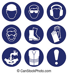 santé, sécurité, icônes