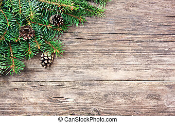 sapin, bois, arbre, noël, fond