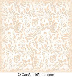 seamless, papier peint, floral