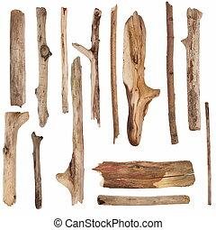 sec, bois, vieux, branches, signpos