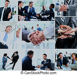 secousse, business, hands., gens