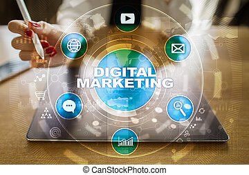 seo., concept., smm., advertising., numérique, internet., online., technologie, commercialisation