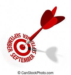 septembre, cible