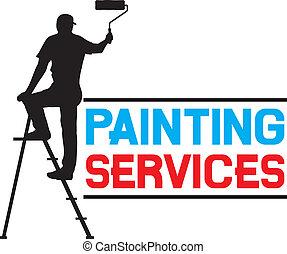 services, peinture, conception