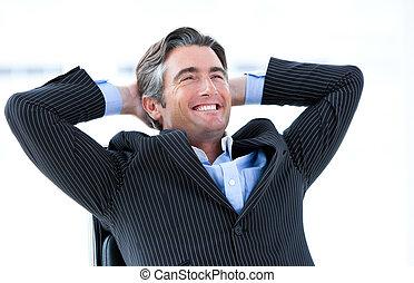 sien, sur, reussite, mâle, rire, cadre, pensée