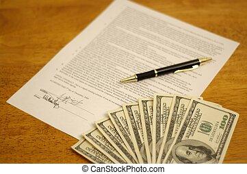 signé, contrat