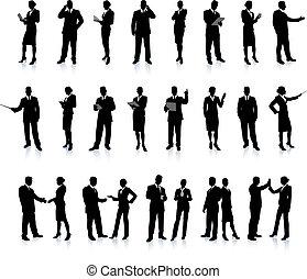 silhouette, ensemble, super, professionnels