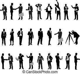 silhouette, gens