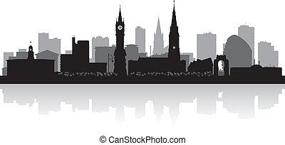 silhouette horizon, ville, leicester