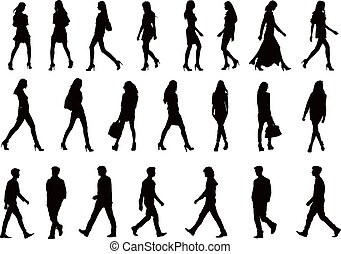 silhouettes, 22, collection, gens