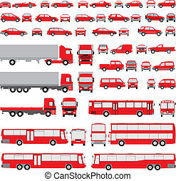 silhouettes, vehicle-assorted