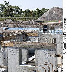 site construction, rebar