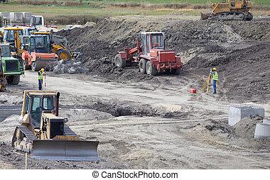site construction, route