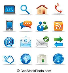 site web, icônes internet