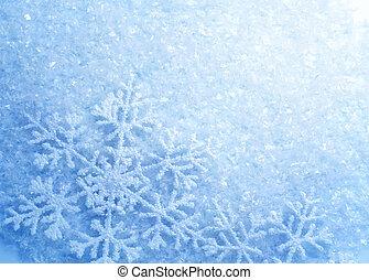 snowflakes., arrière-plan., hiver, neige, noël