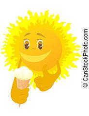 soleil, glace
