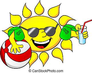 soleil, vacances, été