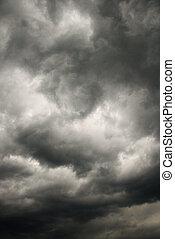 sombre, orage, clouds.
