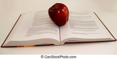 sommet, ouvert, grand apple