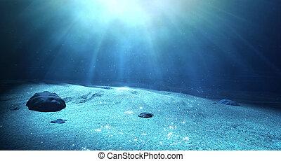 sous-marin, fond de la mer