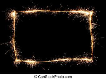 sparkler, cadre
