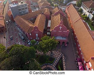 stadthuys, bâtiment, vue aérienne