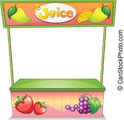 stalle, vendeur, fruit