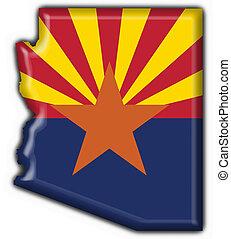 state), arizona, (usa, drapeau, carte, bouton, forme