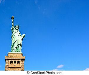 statue, 03, -, ville, york, nouveau, liberté