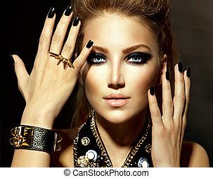 style, girl, mannequin, portrait, bascule
