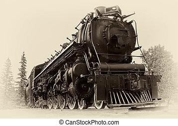 style, vapeur, vendange, train, photo