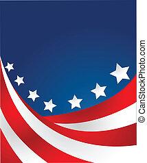 style, vecteur, drapeau etats-unis