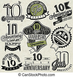 style, vendange, anniversaire, 10
