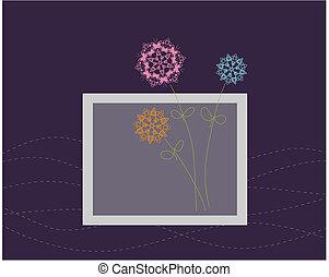 stylique floral, carte voeux