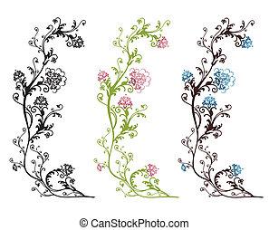 stylique floral, isolé
