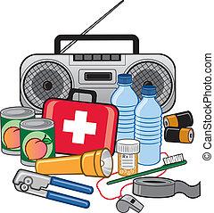 survie, état préparation, urgence, kit