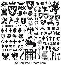 symboles, éléments, héraldique