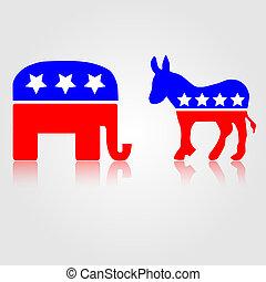 symboles, républicain, politique, démocratique