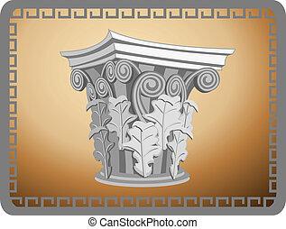 tête, colonne corinthienne