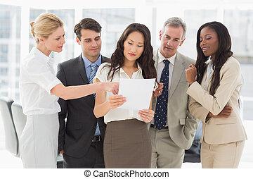 t, équipe, document, business, regarder