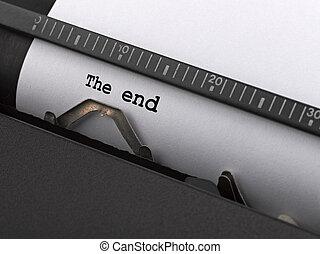 "tapé, end"", vendange, typewriter., ""the, message"