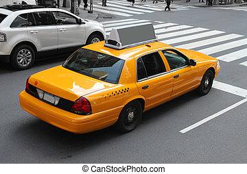 taxi, nouveau, ville, york