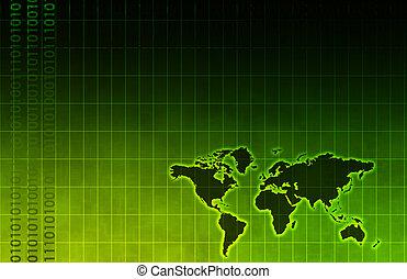 technologie, affaires entreprise, mondiale