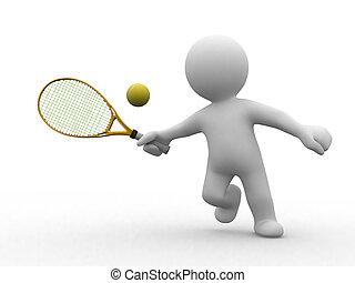 tennis, 3d, gens