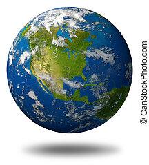 terre planète, amérique, caractériser, nord