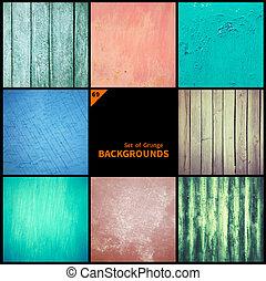 textures, arrière-plans, grunge, collection