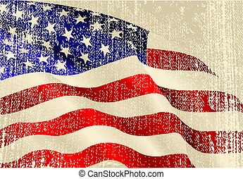 thème, drapeau etats-unis